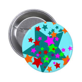 Star Struck Fun Stars Teal Red Pink Lime Orange Pins
