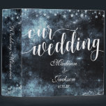 """Star Struck Watercolor Night Wedding Photo Album Binder<br><div class=""""desc"""">Navy Blue Star Struck Celestial Galaxy Night Watercolor Wedding Monogram Photo Album With trendy brush script font! ~ Check my shop to see the entire wedding suite for this design!</div>"""