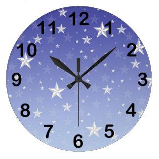 Star Studded Blue Clock