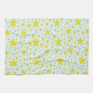 Star Studded Gold Kitchen Towel