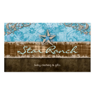Star Suede Business Card Baby Blue H