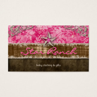 Star Suede Business Card Baby Pink H