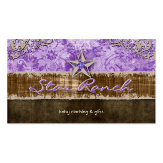 Star Suede Business Card Baby Purple H