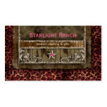 Star Suede Business Card Leopard Pink H