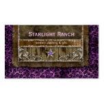 Star Suede Business Card Leopard Purple H