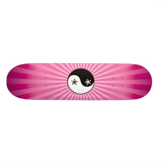 Star Sunburst Yin Yang Skateboard