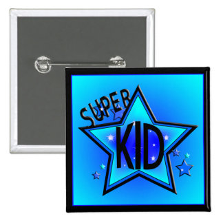 Star Super Kid Blue Button