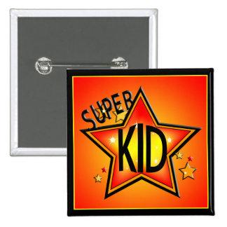 Star Super Kid Button