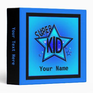 Star Super Kid Custom Boy Blue Binder