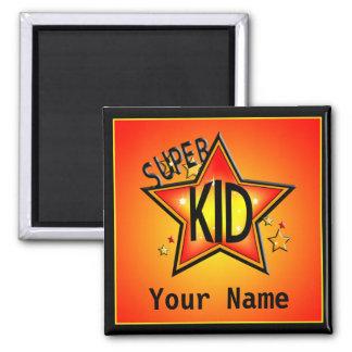 Star Super Kid Name Custom Magnet