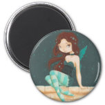 Star- sweet star fairy on a brick wall magnet