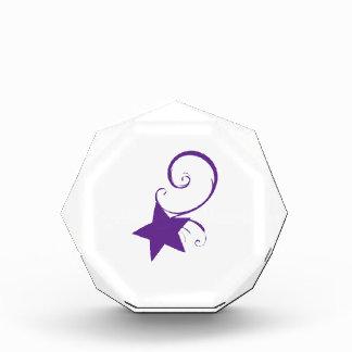 Star Swirl Acrylic Award