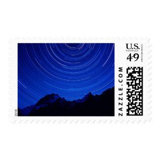 Star swirls over 7000+ meter Masherbrum in Hushe Postage