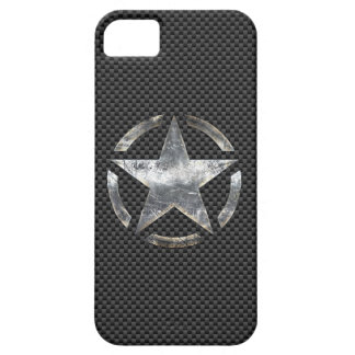 Star Symbol on a Carbon Style Decor iPhone SE/5/5s Case