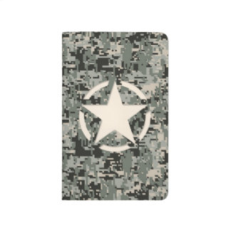 Star Symbol Pixel Digital Camouflage Journal
