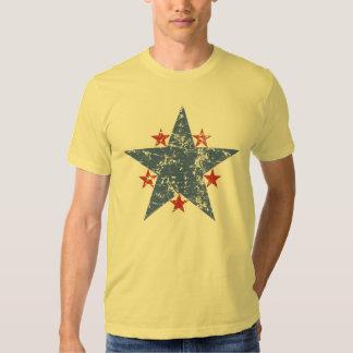 Star T-Shirt Old Glory T-Shirt Distressed T-Shirt