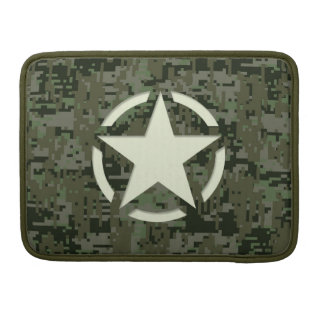 Star Tag Decal Digital Camouflage Style MacBook Pro Sleeve