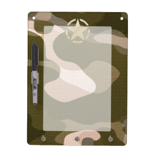Star Tag on Burlap Camouflage Style Dry-Erase Board