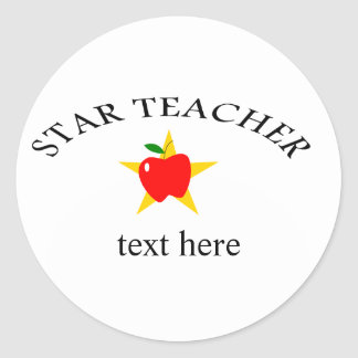 star teacher classic round sticker