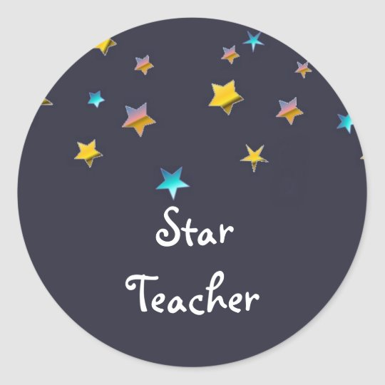 Star Teacher Classic Round Sticker