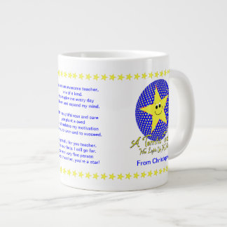 Star Teacher Thank You from Student 20 Oz Large Ceramic Coffee Mug
