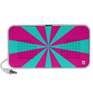 Star Teal Pink Doodle Portable Speakers