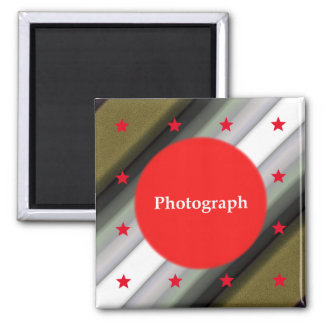 Star Template Design 2 Inch Square Magnet