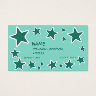 Star Template for business card