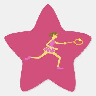 Star Tennis player Star Sticker