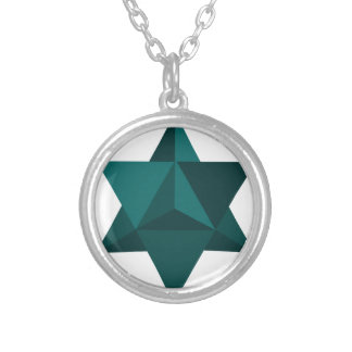 Star Tetrahedron Round Pendant Necklace