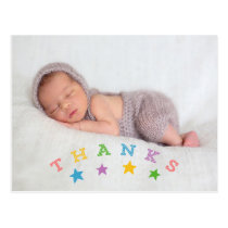 Star Thanks | Photo Baby Thank You Postcard