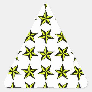 Star tile triangle sticker