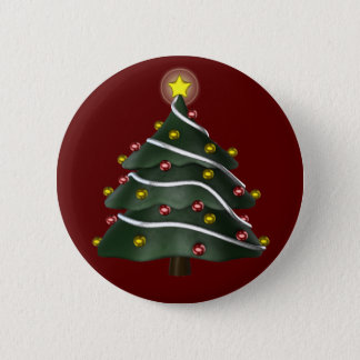 Star-topped Christmas Tree Button