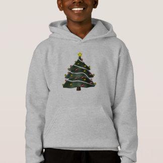 Star-topped Christmas Tree Hoodie or Tshirt