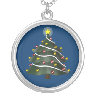 Star-topped Christmas Tree Necklace
