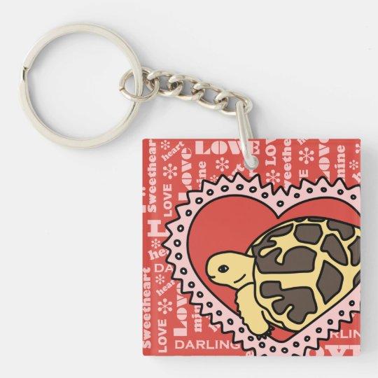 Star Tortoise Valentine's Day Keychain (love)