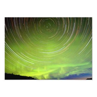 Star Trails and Northern Lights Aurora borealis 5x7 Paper Invitation Card
