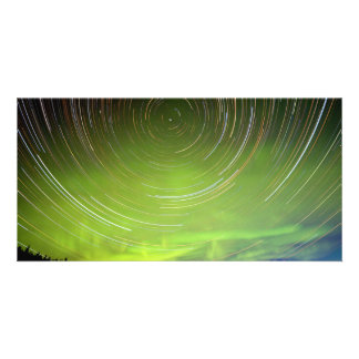 Star Trails and Northern Lights Aurora borealis Photo Cards