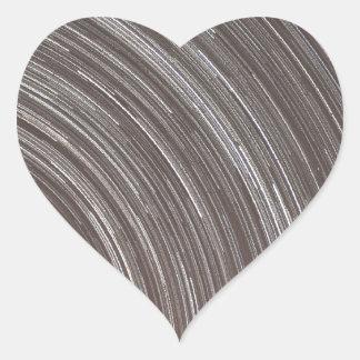 Star Trails Heart Sticker