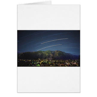 Star Trails over Aspen CO Greeting Card