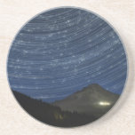 Star Trails Over Mount Hood at Trillium Lake OR Beverage Coasters