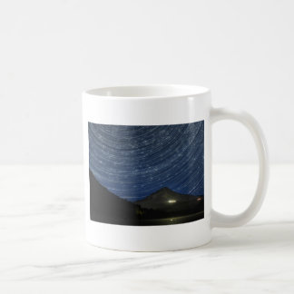 Star Trails Over Mount Hood at Trillium Lake OR Coffee Mugs