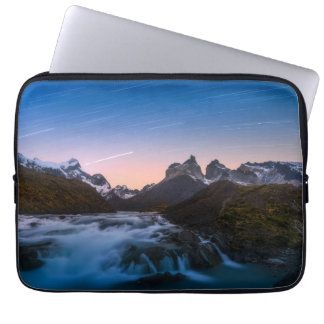 Star Trails Over Torres Del Paine Laptop Sleeve