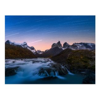 Star Trails Over Torres Del Paine Postcard