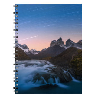 Star Trails Over Torres Del Paine Spiral Notebook