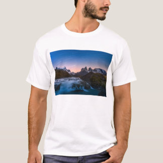 Star Trails Over Torres Del Paine T-Shirt