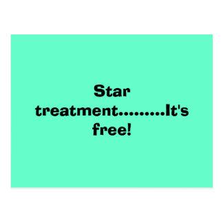 Star treatment.........It's free! Postcard