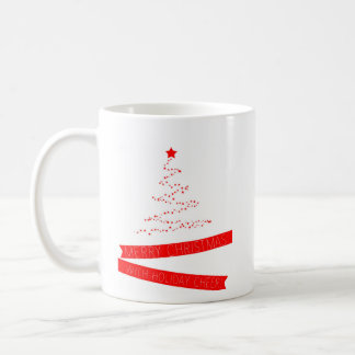 Star tree Christmas card Coffee Mug