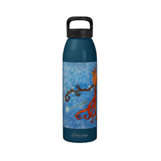 star tree magical bird water bottle