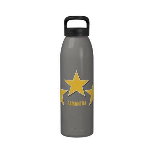 Star Trio Liberty Bottle, Yellow Water Bottle